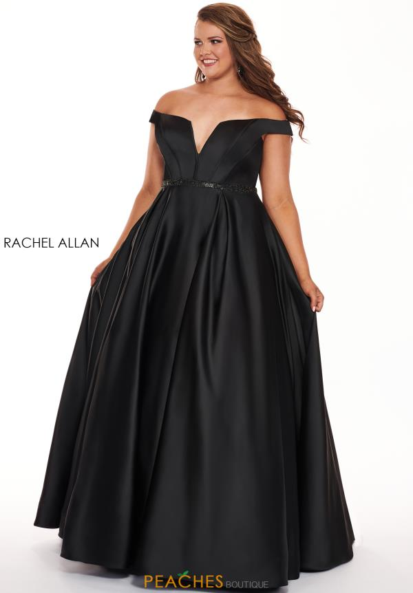 Rachel Allan Off the Shoulder Plus Size A-Line Dress 6670