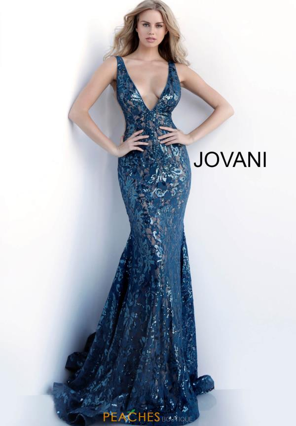 Jovani Long Sequins Dress 63437