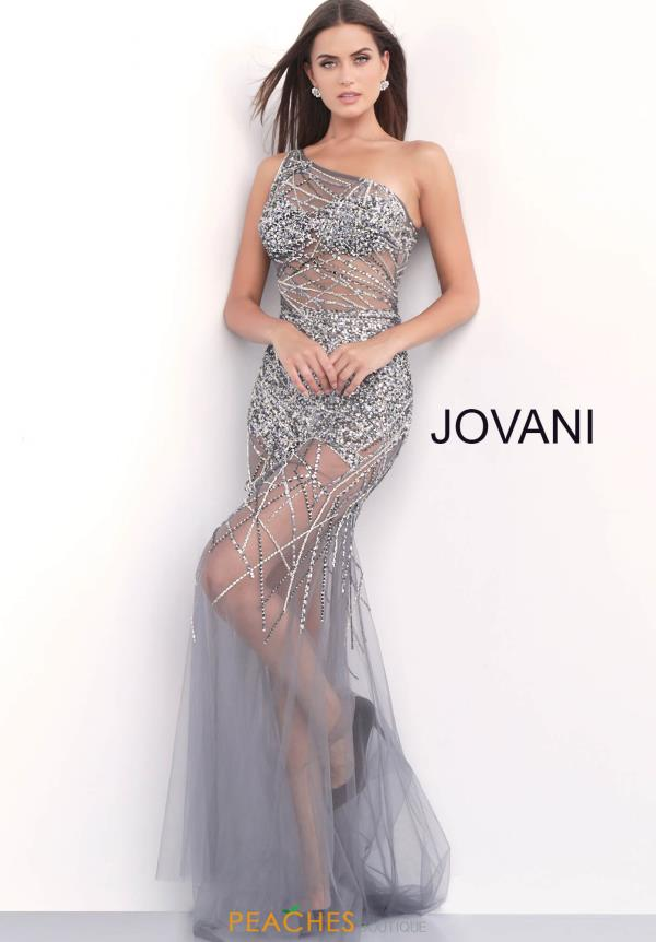 Jovani Single Shoulder Fitted Dress 55567