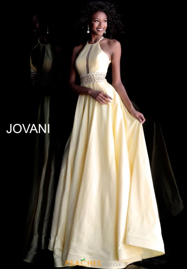 Jovani Full Figured V-Neck Dress 61645
