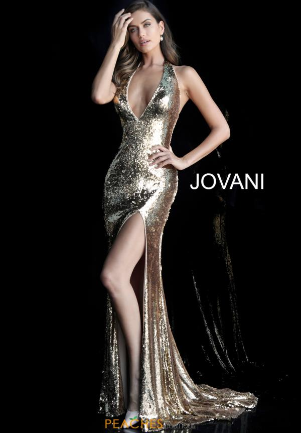 Jovani V-Neck Long Dress 62360