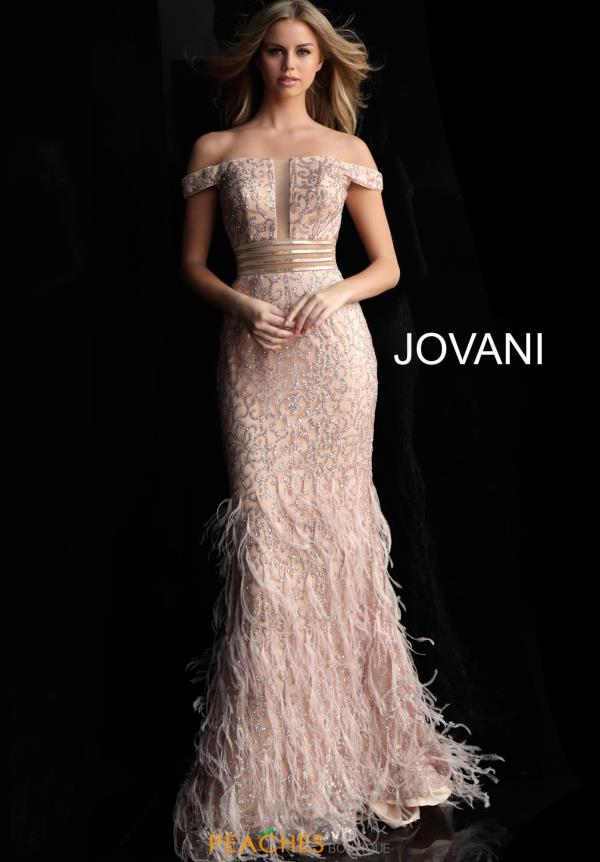 Jovani Cao Sleeve Fitted Dress 62744
