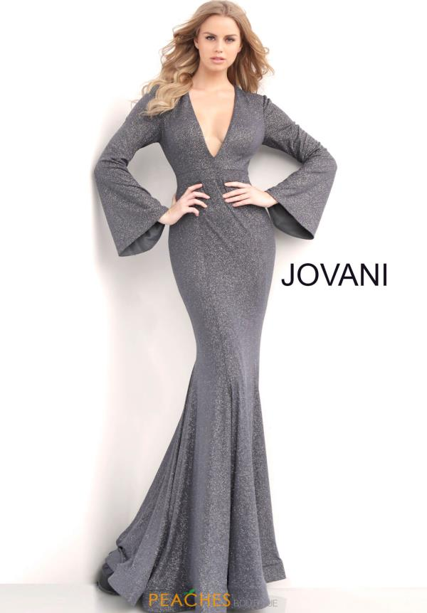 Jovani Long Sleeve Mermaid Dress 63174