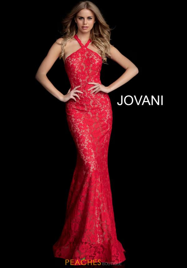 Jovani Lace Fitted Dress 63214