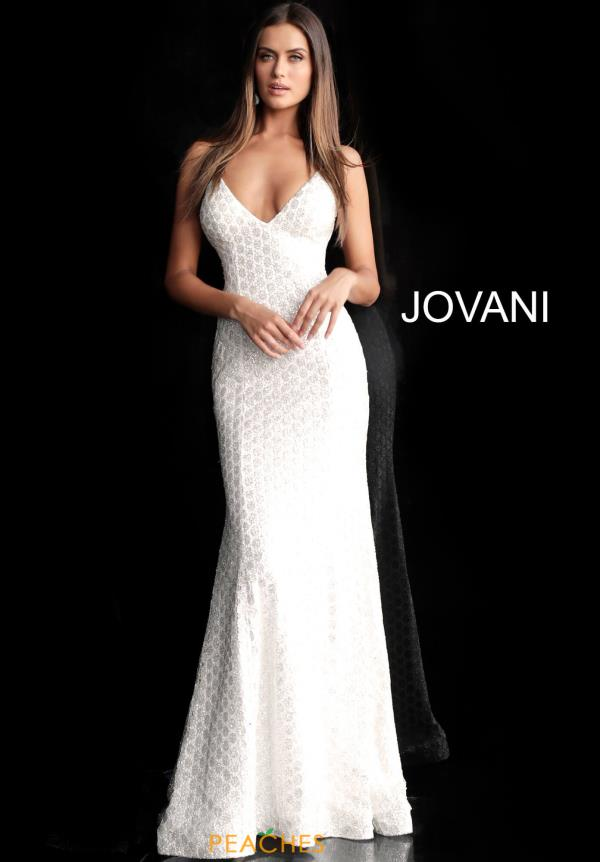 Jovani Sequins V-Neck Dress 63456