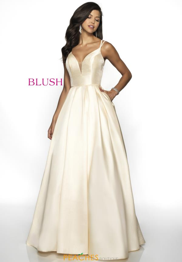 Blush Taffeta A Line Dress 5704