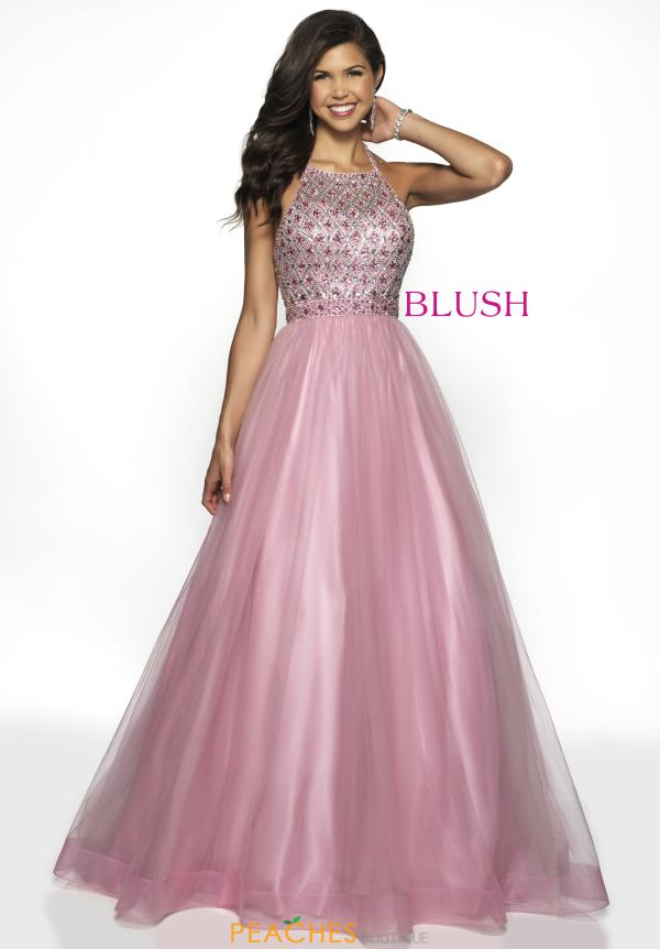 Blush Beaded A Line Dress 5708