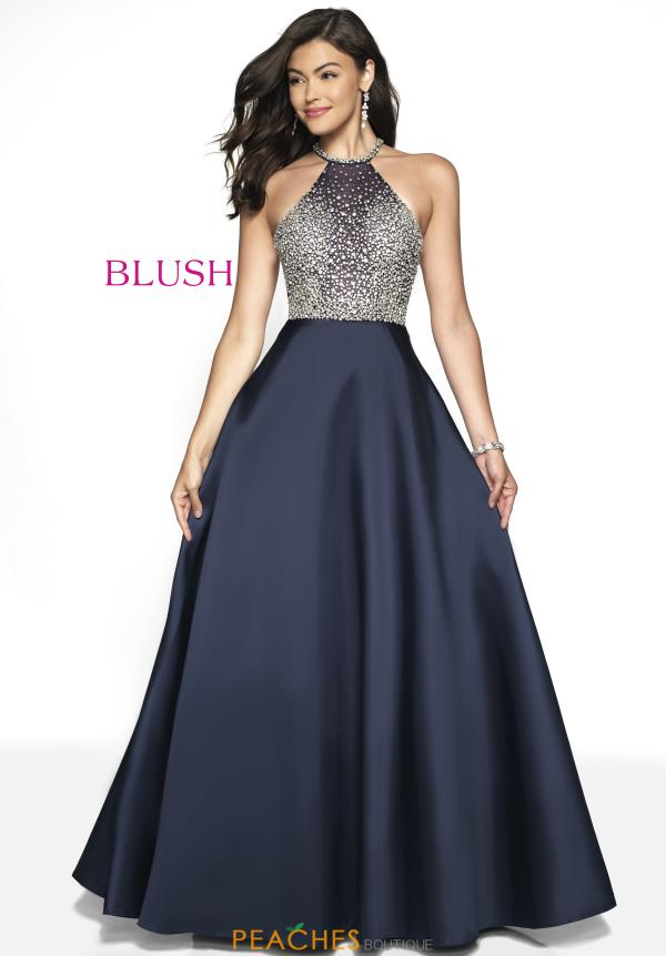 Blush Beaded A Line Dress 5720