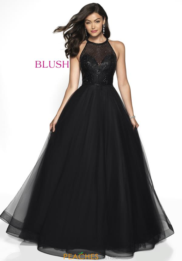 Blush Beaded A Line Dress 5721