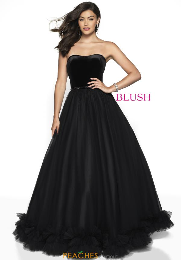 Blush Black A Line Dress 5726