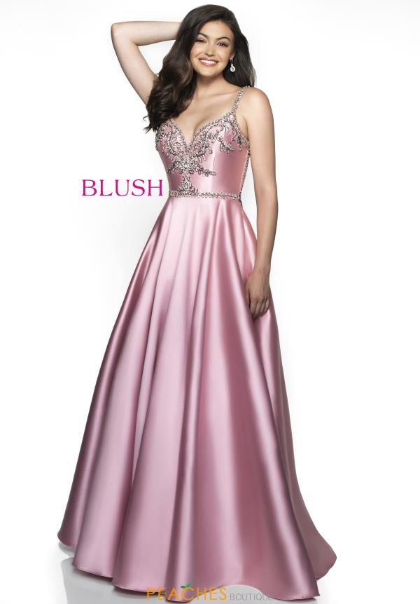 Blush Satin A Line Dress C2020