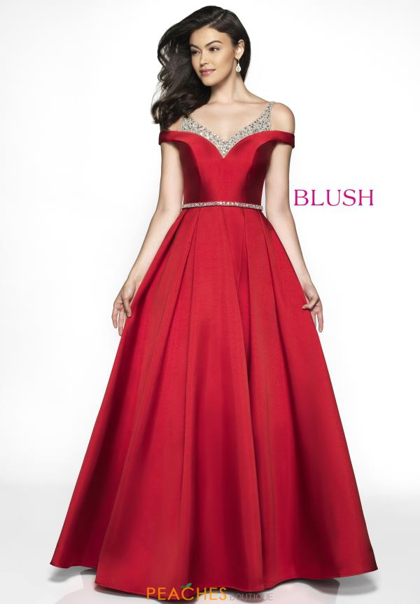 Blush Long A Line Dress C2046