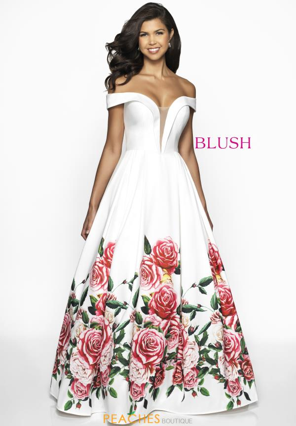 Blush Long A Line Dress C2062