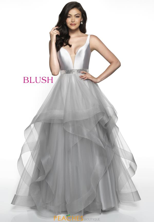 Blush Long A Line Dress C2064
