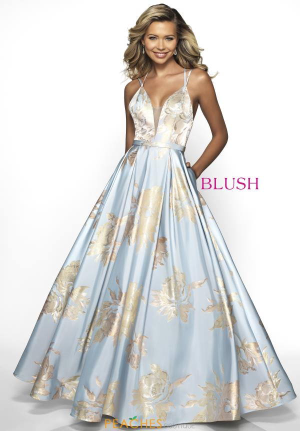Blush Long Blue Dress C2094
