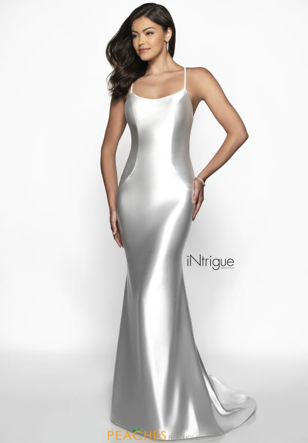 Intrigue by Blush Sexy Back Fitted Dress 544