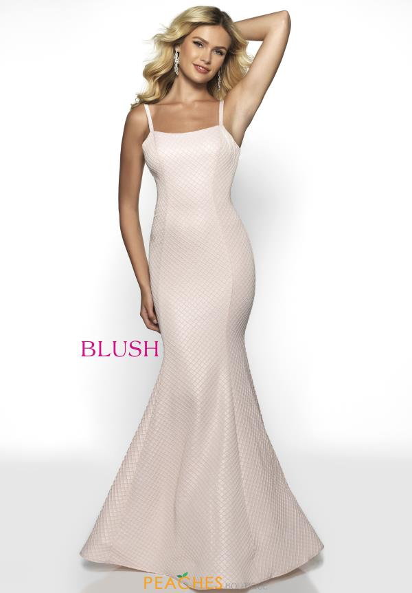 Blush Long Fitted Dress 11704