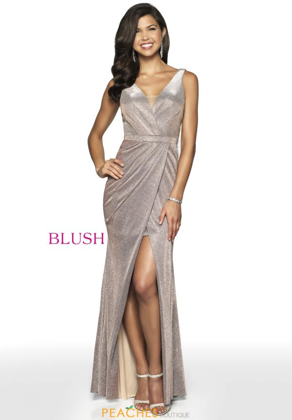 Blush V- Neckline Fitted Dress 11712
