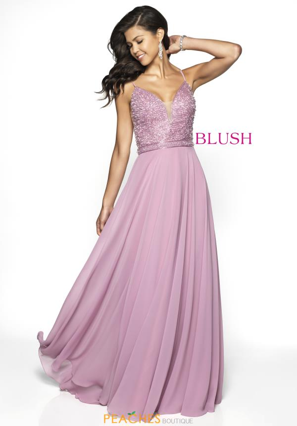 Blush Long A Line Dress 11730