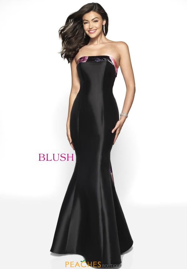 Blush Strapless Mermaid Dress 11750