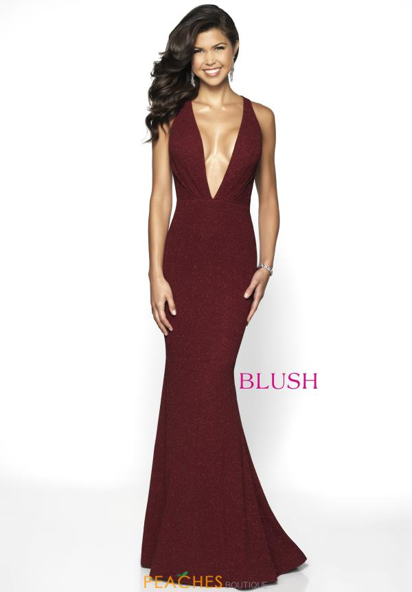 Blush V- Neckline Fitted Dress 11766