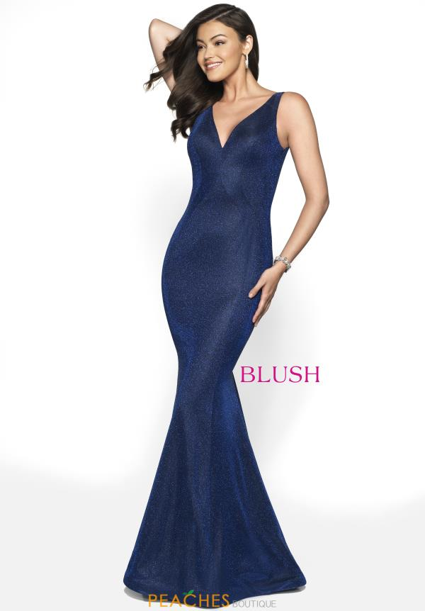 Blush V- Neckline Fitted Dress 11767