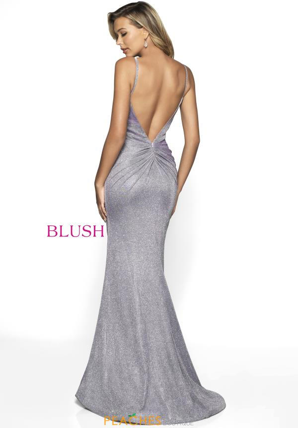 Blush V- Neckline Fitted Dress 11776