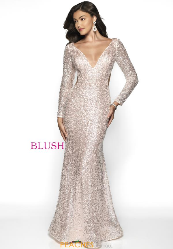 Blush Sleeved Fitted Dress 11783
