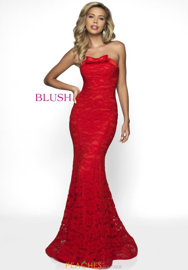 Blush Strapless Fitted Dress C2012
