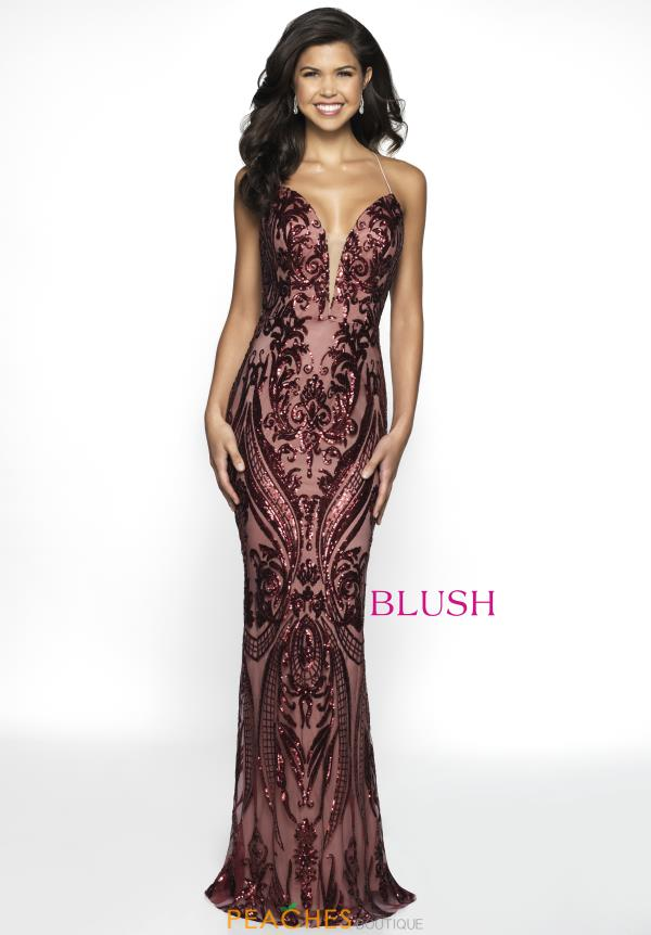 Blush Fitted Long Dress C2031
