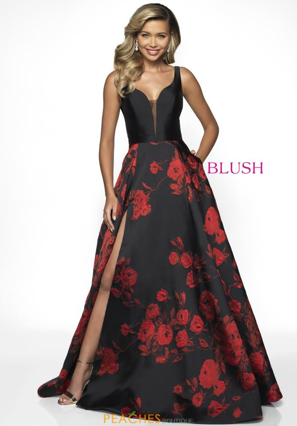 Blush Long A Line Dress C2083