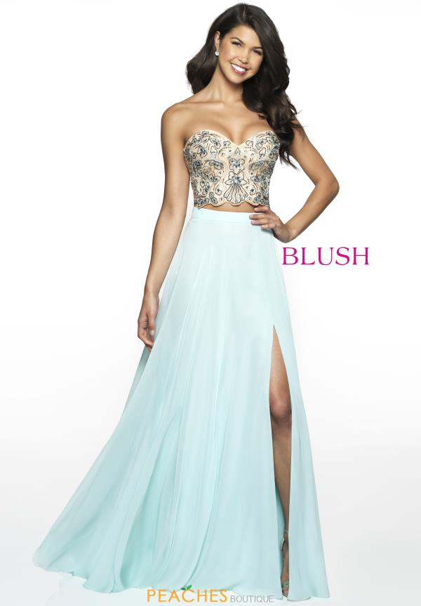 Blush Two Piece A Line Dress C2089
