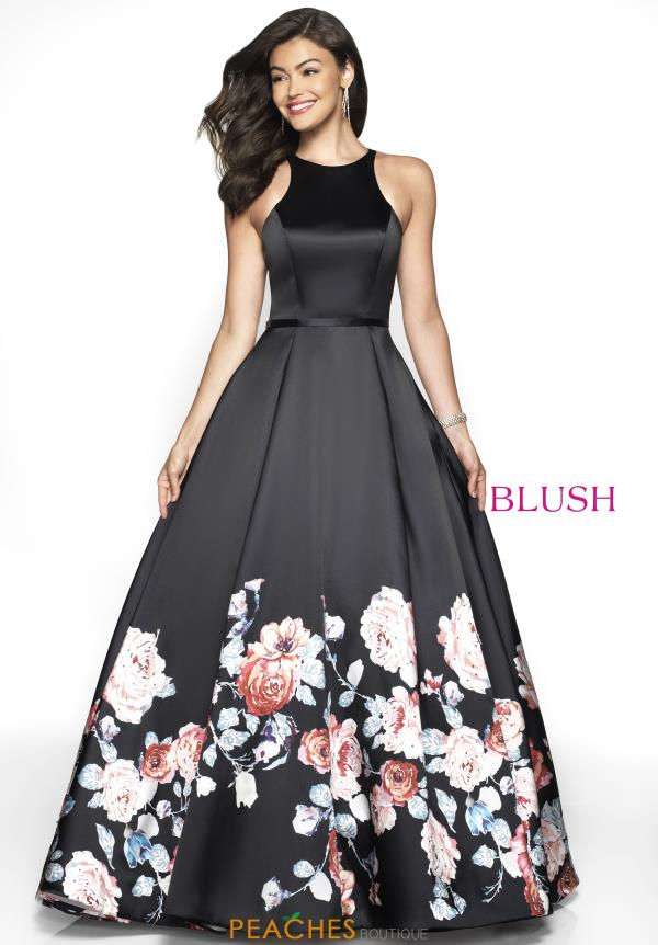 Blush Long A Line Dress 11136Z