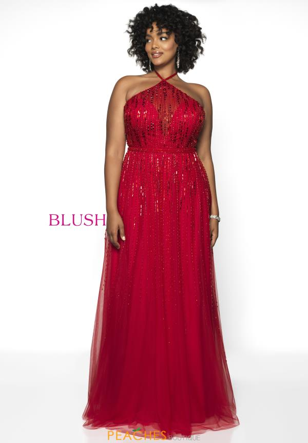 Blush Too A Line Beaded Dress 11756W
