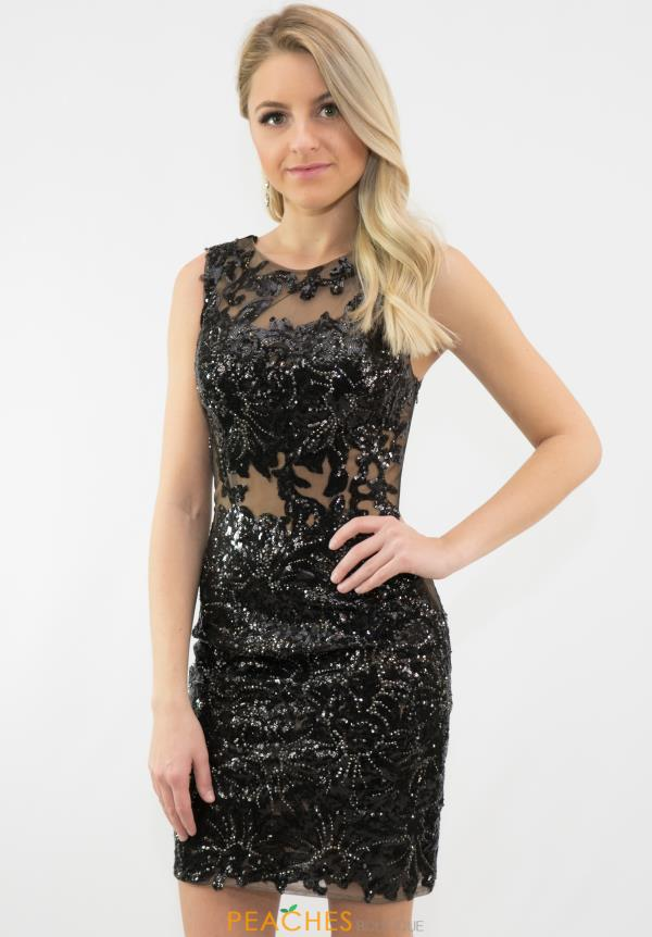 JVN by Jovani High Neckline Fitted Dress JVN29050