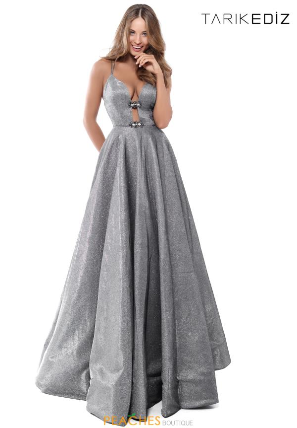 Tarik Ediz A Line Long Dress 50542
