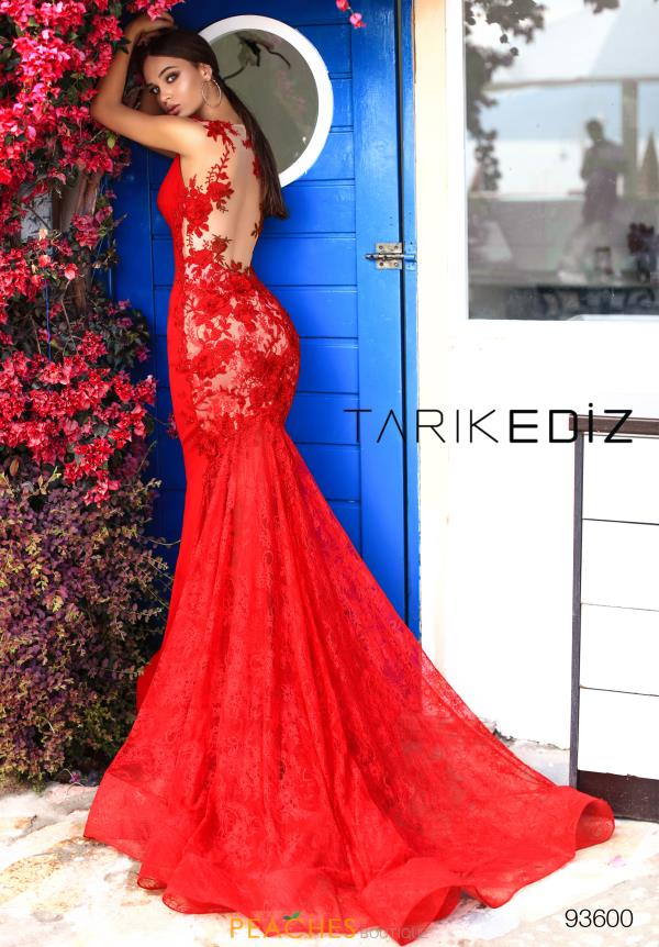 Tarik Ediz Lace Fitted Dress 93600