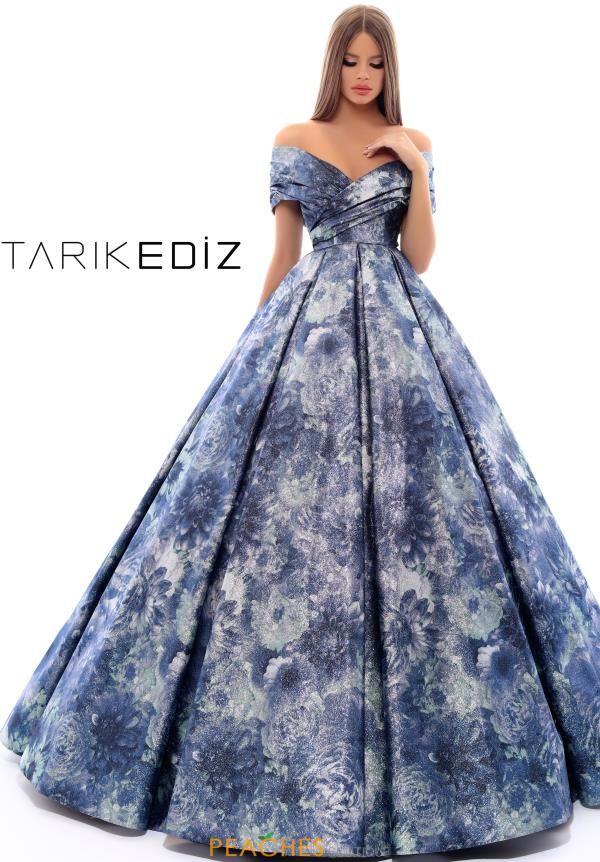 Tarik Ediz Full Figured Glitter Dress 93674