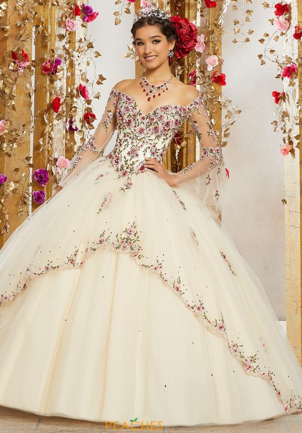 Vizcaya Quinceanera Sleeved Ball Gown 34003