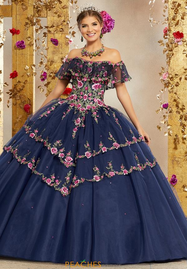 Vizcaya Quinceanera Floral Beaded Gown 34004