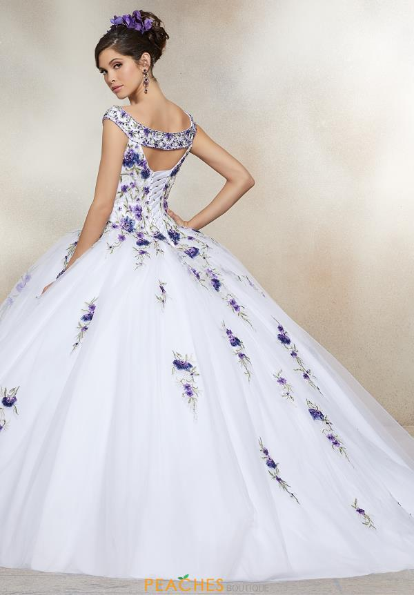 Vizcaya Quinceanera Off the Shoulder Beaded Gown 34005