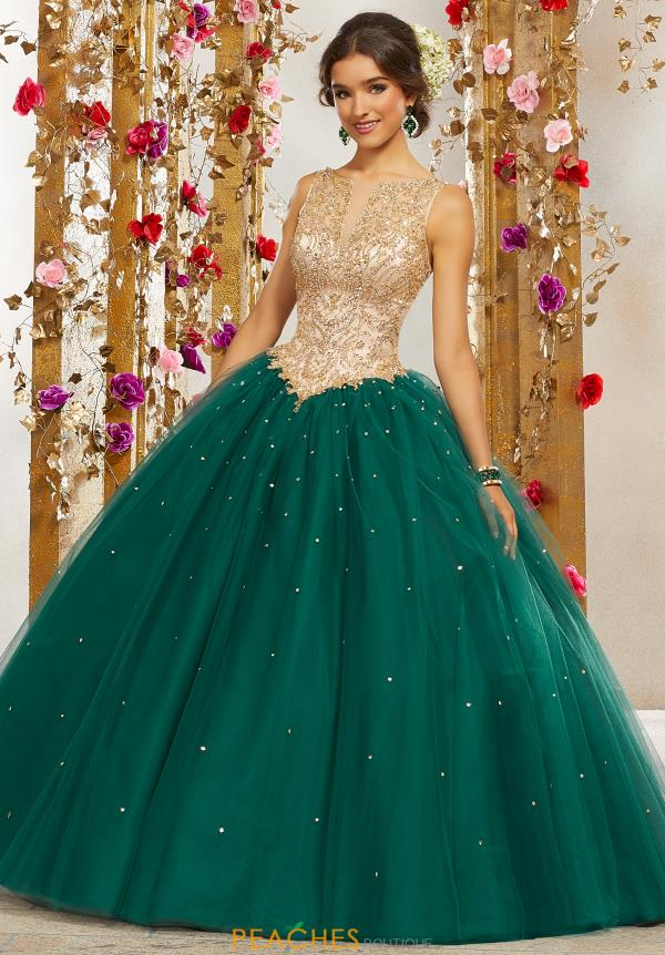 Vizcaya Quinceanera Long Beaded Gown 60080