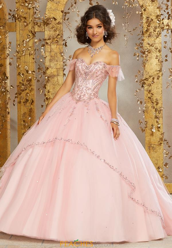 Vizcaya Quinceanera Off the Shoulder Beaded Gown 89222