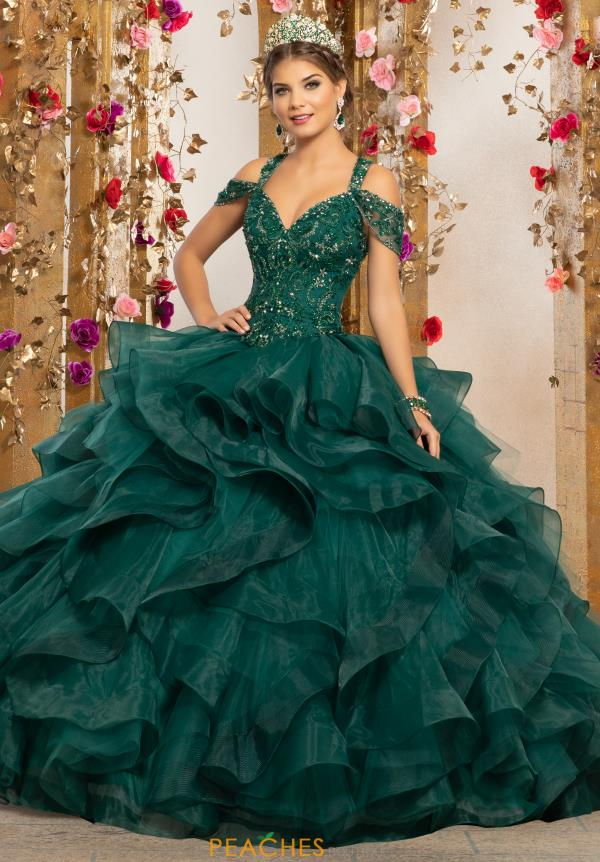 Vizcaya Quinceanera Cap Sleeved Beaded Gown 89226