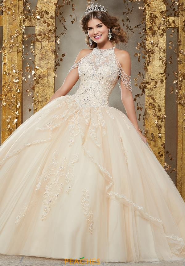 Vizcaya Quinceanera High Neckline Beaded Gown 89227