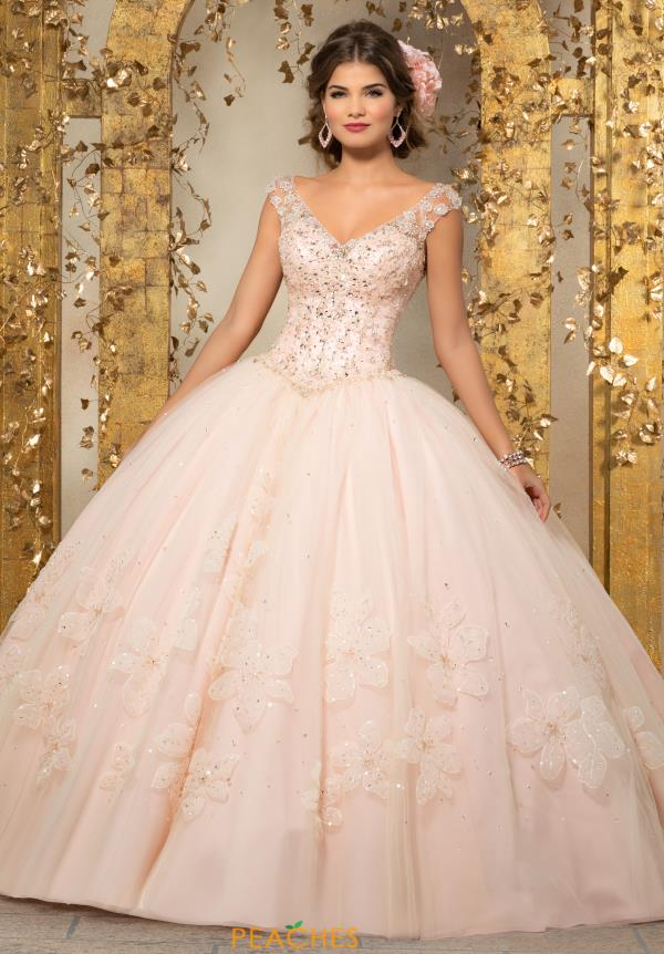 Vizcaya Quinceanera Cap Sleeved Ball Gown 89229
