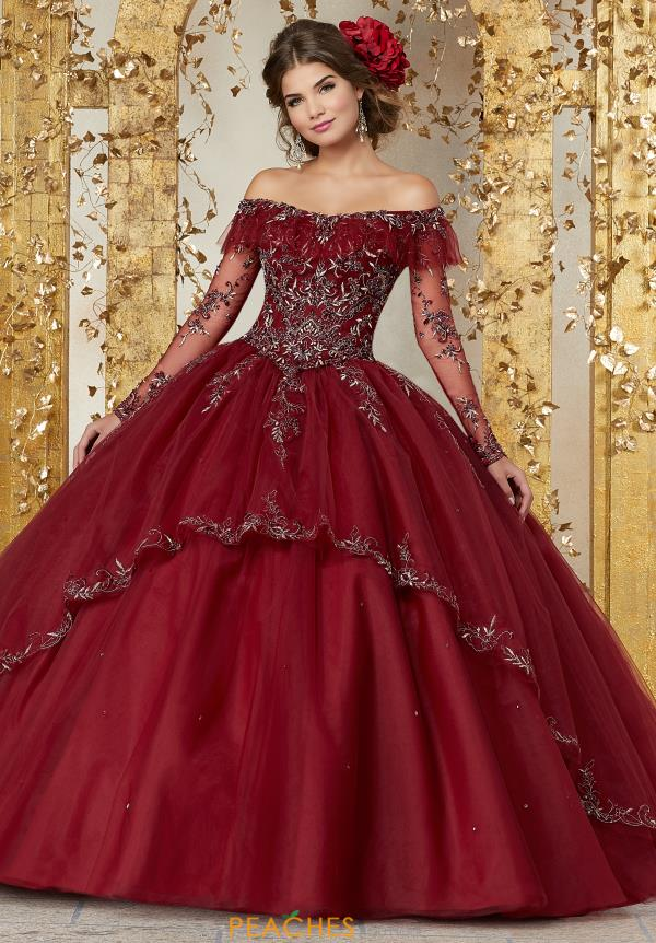 Vizcaya Quinceanera Off the Shoulder Beaded Gown 89235