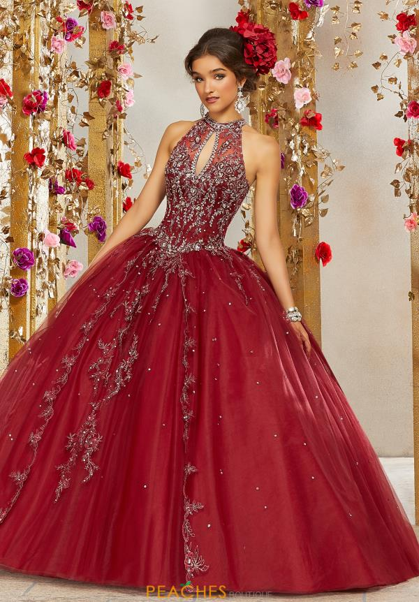 Vizcaya Quinceanera High Neckline Beaded Gown 89236
