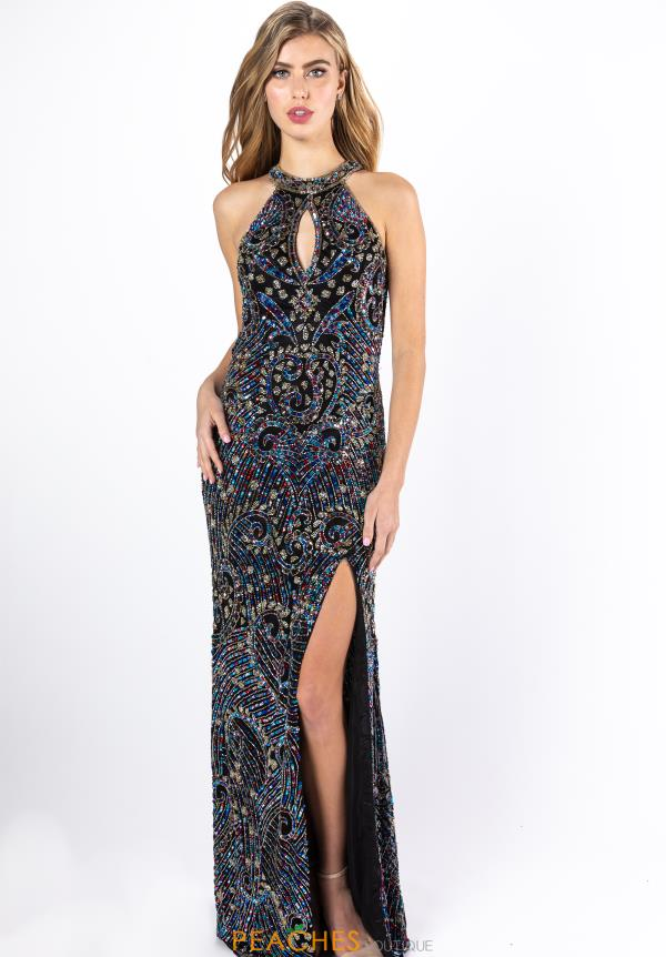 Primavera Beaded Long Prom Dress 3219