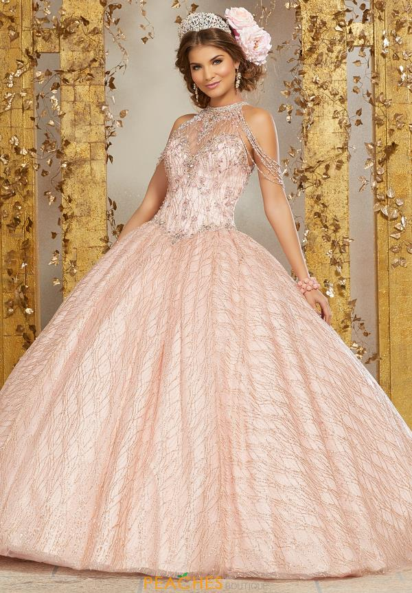 Vizcaya High Neckline Quinceanera Gown 89221